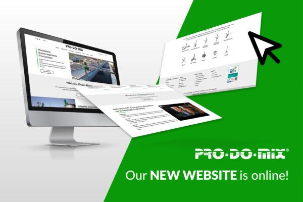 PRO-DO-MIX uploads its new website!